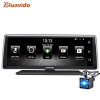 Bluavido 8 ips 4 г Видеорегистраторы для автомобилей gps навигации Android ADAS FHD 1080 P тире камеры Регистраторы Двойной объектив ночного видения авто Вид