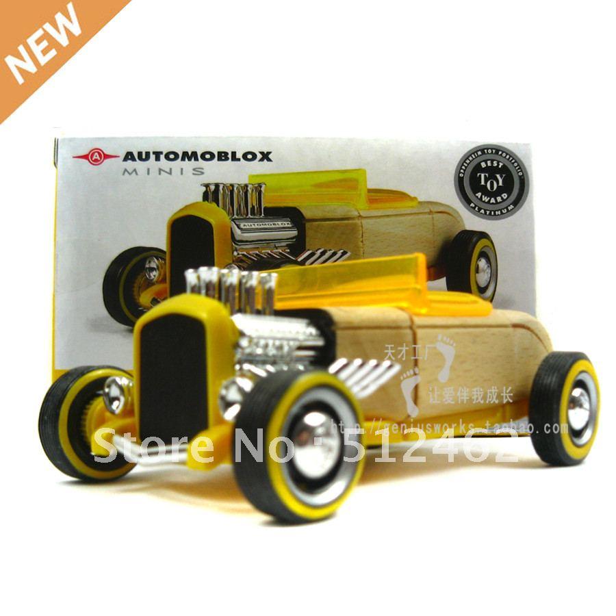 FREE shipping sports car model kits educational blocks classic mini ...