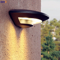 IWHD Outdoor Lighting Wall Light Waterproof Garden Porch Balcony Lights LED Wall Lamp Outdoor Exterior Luminaire Outside
