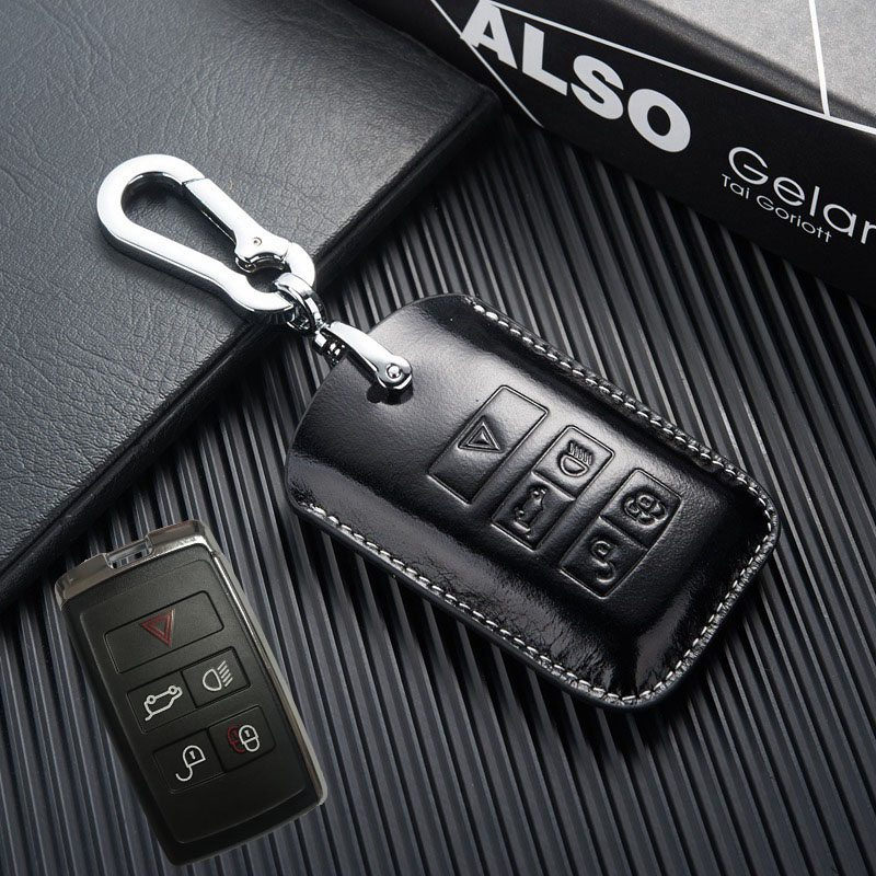 Leather Key Case For 2018 2019 Jaguar E Pace I Pace Key