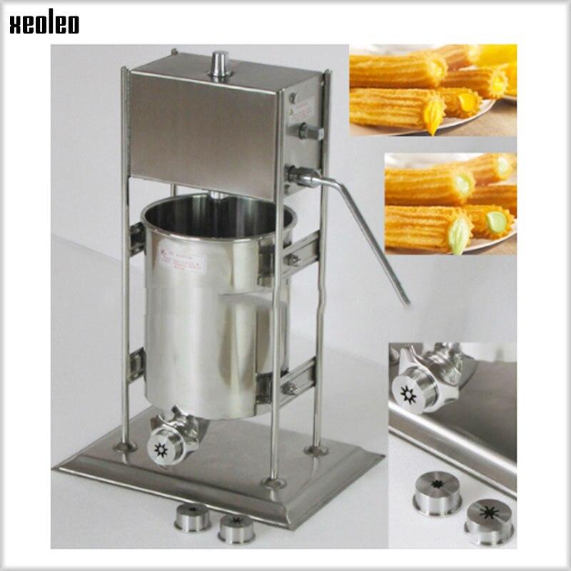 XEOLEO 12L Latin fruits remplissage espagnol Churros fabricant de remplissage machine à torsion commerciale automatique en acier inoxydable équipement 220 V - 3
