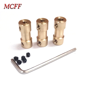 Image 4 - 2/2.3/3/3.17/4/5/6mm Brass Rigid Motor Shaft Coupling Coupler Motor Transmission Connector with Screw Wrench For Model RC Toys