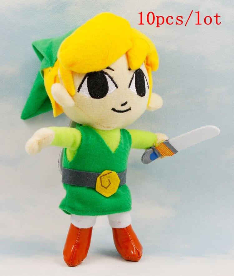 10 unids/lote la leyenda de Zelda enlace felpa muñecas 20 cm - a71