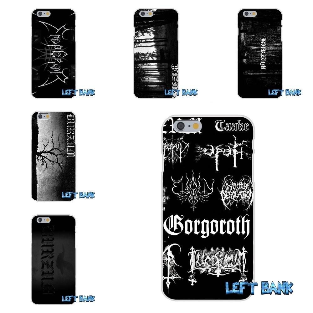 For iPhone 4 4S 5 5S 5C SE 6 6S 7 Plus Burzum Soft Silicone TPU Transparent Cover Case