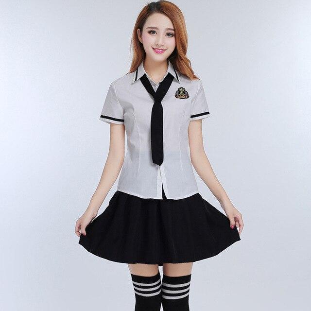 41515a4ce Japonés y coreano verano Niñas estudiante Universidad Uniformes para el  Colegio para la camisa blanca +