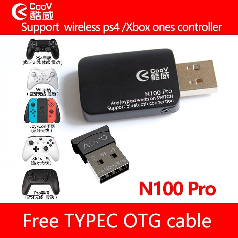 Coov N100 PRO pour PS4/Xbox Un contrôleur sans fil Convertisseur Adaptateur pour Nintendo NS du Commutateur Filaire GamePad Joystick Convertisseur