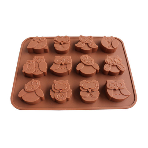 Dropshipping 12 Owls Silicone Cake Bread Chocolate Jelly Candy Baking Mould Craft Mold Karachi