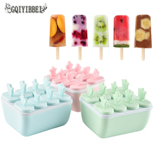 8 Cell Ice Cream Pop Mold Clear DIY Mould Tray Pan Popsicle Candy Useful Frozen Freezer Lolly Maker Yogurt Stick Ice Cream цена и фото