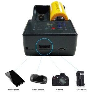 Image 5 - PALO 18650 batterie Ladegerät für 3,7 V lithium 18650 26650 21700 18350 und 1,2 V AA AAA Ni Mh akku