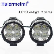 2 PCS Motorcycle LED Headlight 12V 24V 40W 4000lm Motorbike Waterproof Decorative Lamp Moto Bicycle Auxiliary Work Lights