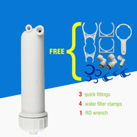 3013 400GPD RO Membrane Housing Reverse Osmosis Parts 400 Gallon Membrane Shell With Quick Fittings