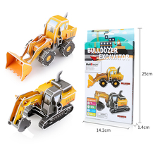 3D Puzzles Children Adults for  Learning Education Brain Teaser Assemble Toy construction vehicle Model Games Jigsaw toy