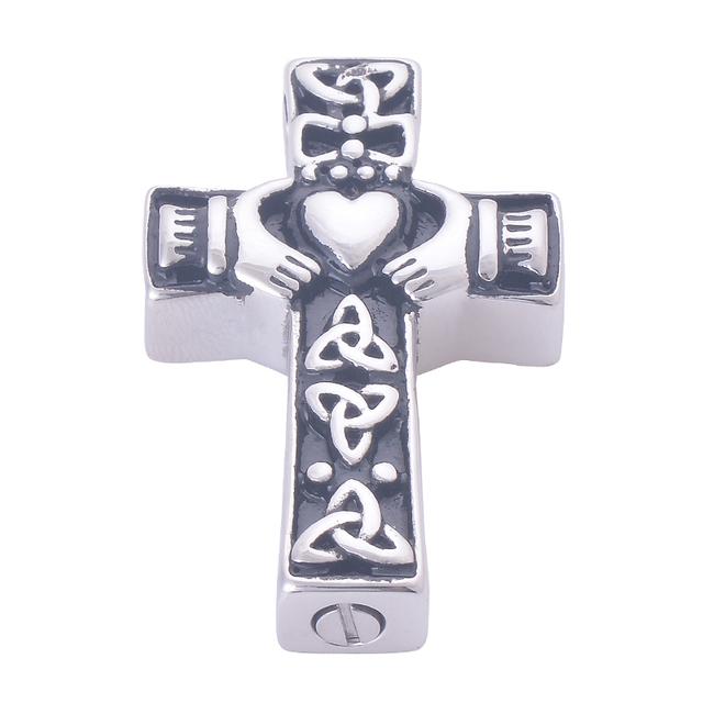 Claddagh Cross Urn Pendant