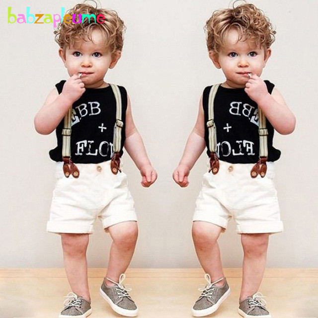 cc2299b52274 3Piece 2 6Years Summer Toddler Boys Clothing Set Letter Sleeveless T ...