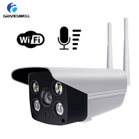 2pcs/lot 1.0MP IP Camera Wireless Security Wifi Camera Outdoor IP Camera Two Way Audio Smart P2P Waterproof Bullet Camera