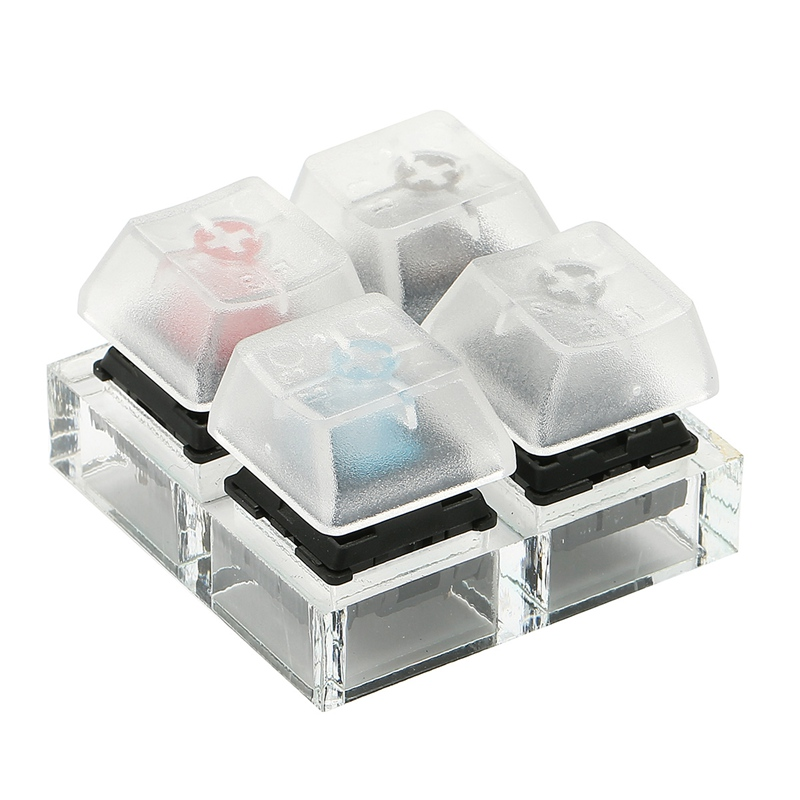4 Key Caps <font><b>Mechanical</b></font> <font><b>Keyboard</b></font> Switches <font><b>Tester</b></font> Sampler Acrylic Caps Clear Translucent Keycaps Kit For Cherry MX Testing Tool image