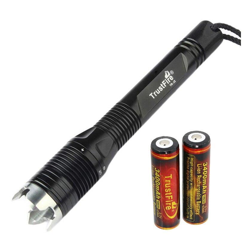 TrustFire J2 18650 Taschenlampe Tauchen Taschenlampe CREE XML-L2 LED Unterwasser Lichter 4 Modus Wasserdicht Lanterna Dive Lampe