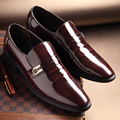 Casual Men'S Leather Shoes New 2017 Genuine Leather Wedding Pary Shoes Men Fashion Patent Leather Dress Shoes Work Shoes Sapatos