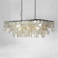 Pendant Light Sea Shell Hanging Lamp European modern dining room creative shell wind chimes Bedroom Bar Lighting E14 led bulb