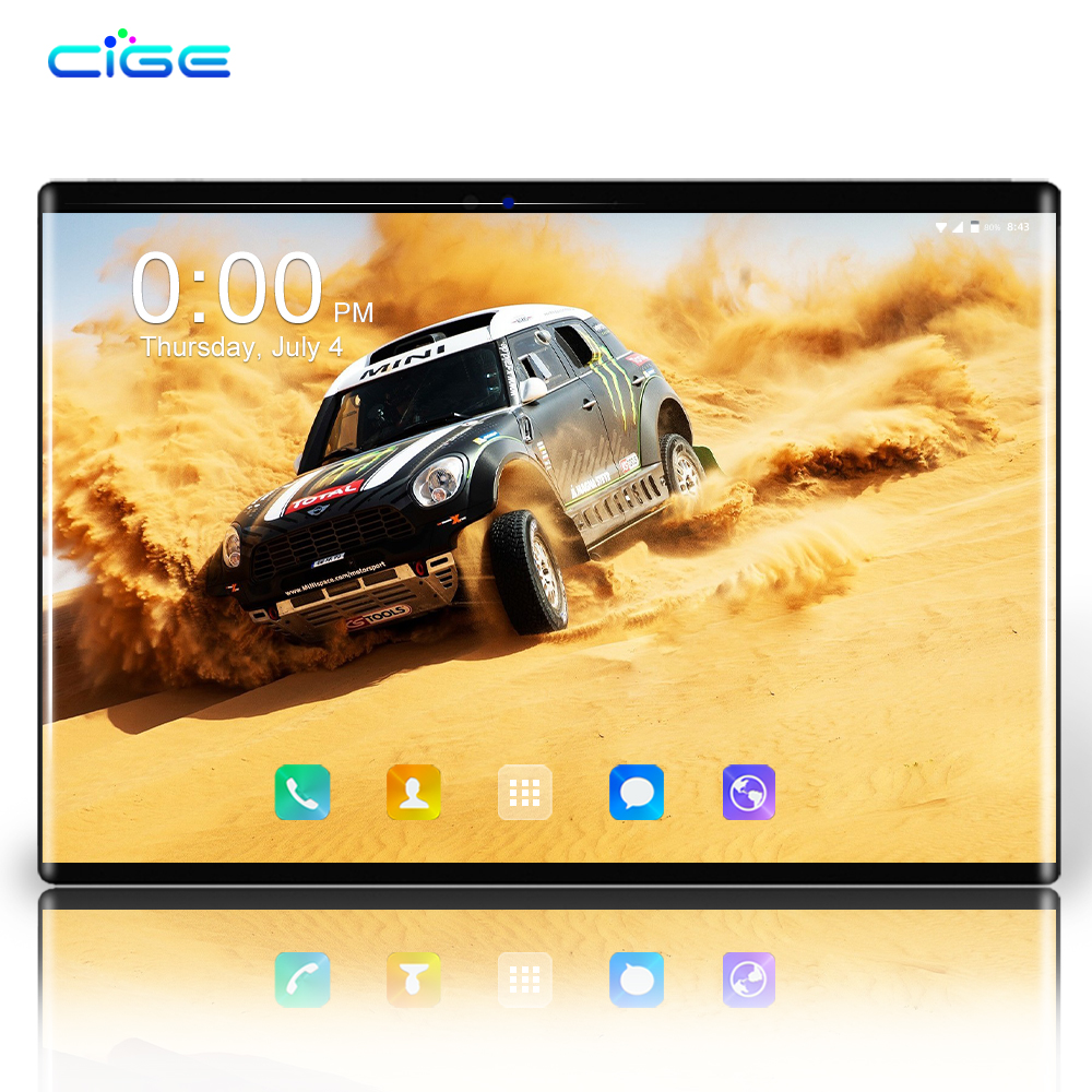 2.5D Glass Screen Tablet PC 10.1 Inch Android 8.0 Octa Core 6GB RAM 64GB ROM 3G 4G LTE 1280*800 IPS 8.0MP SIM Card Ips Tablets