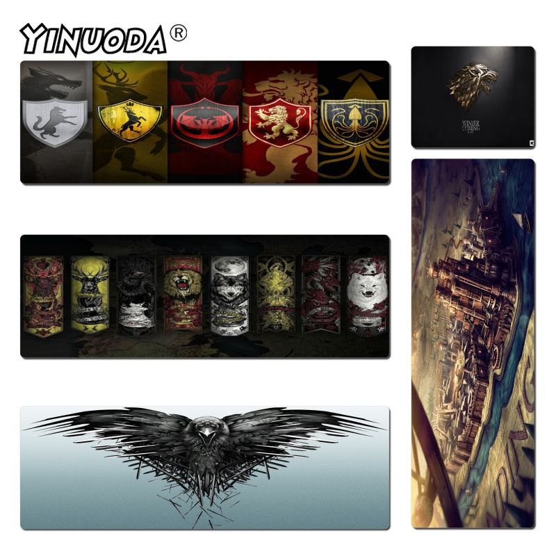 Yinuoda TV Show Game Of Thrones Keyboard Gaming MousePads Size 30x60cm and 40x90cm Gaming Mousepads