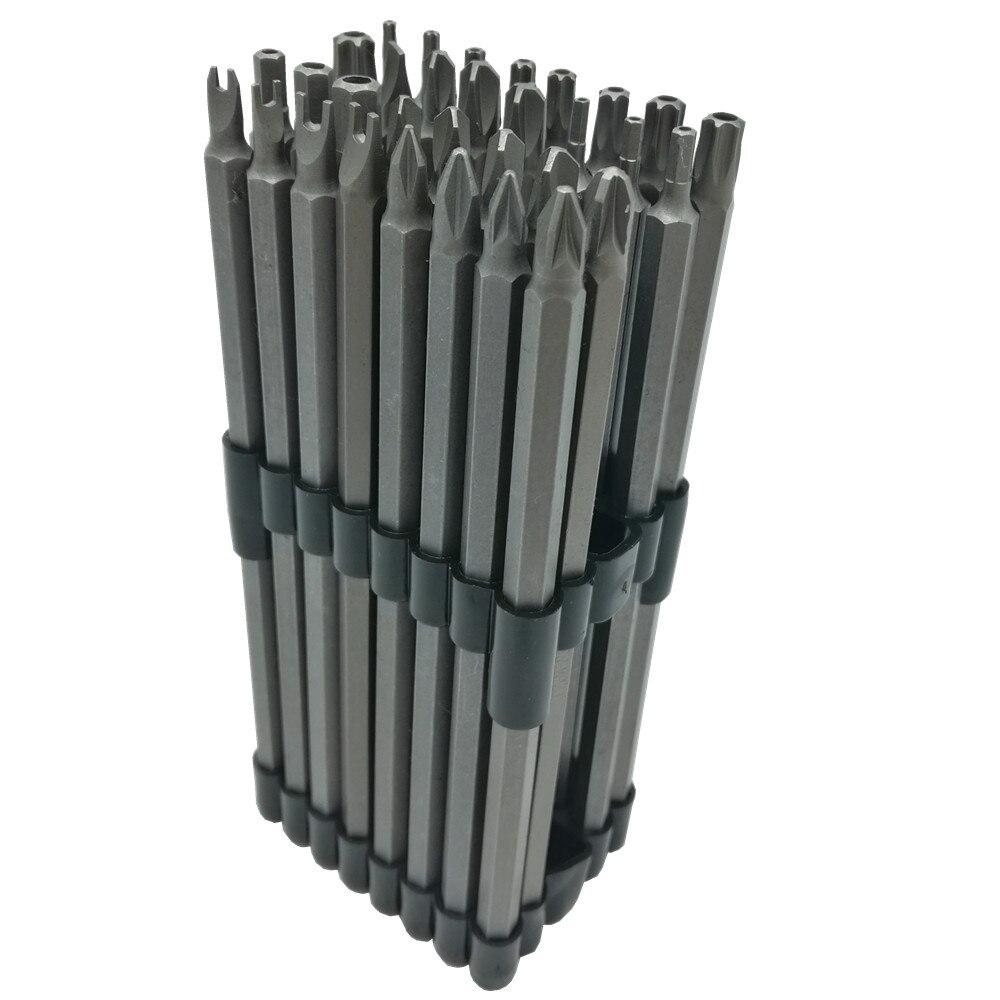 32 pc Extra Longue Sécurité Puissance Peu Set 6 150mm Longueur 1/4 Tige Inviolable Torx CR-V
