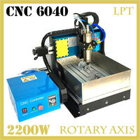 JFT 2200W CNC Engraving Machine With Water Tank 4 Axis Parallel Port Water Cooling CNC Router