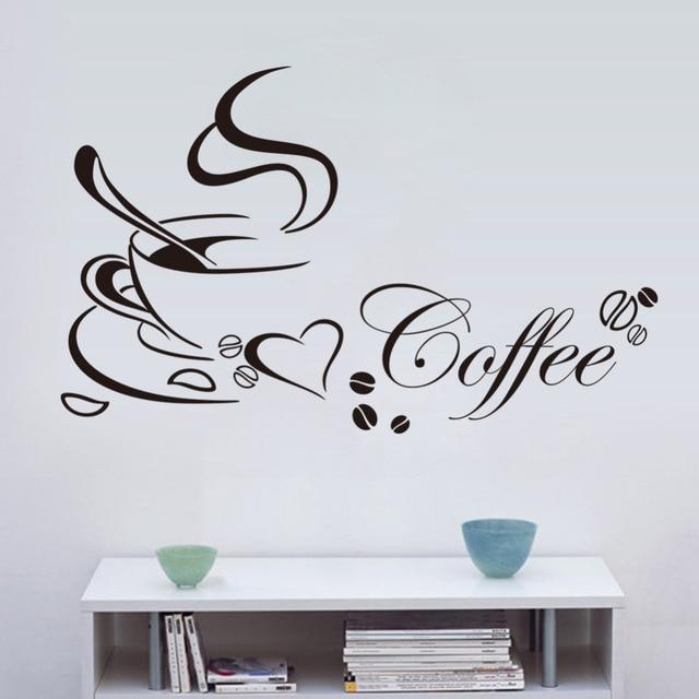 Coffee Heart Vinyl Quote Wall Sticker 4