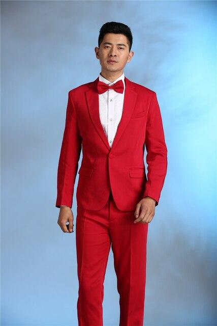 29fde5b85822 Последние конструкции пальто брюки красные, синие розовый костюм мужской  костюм Slim Fit 2 шт.