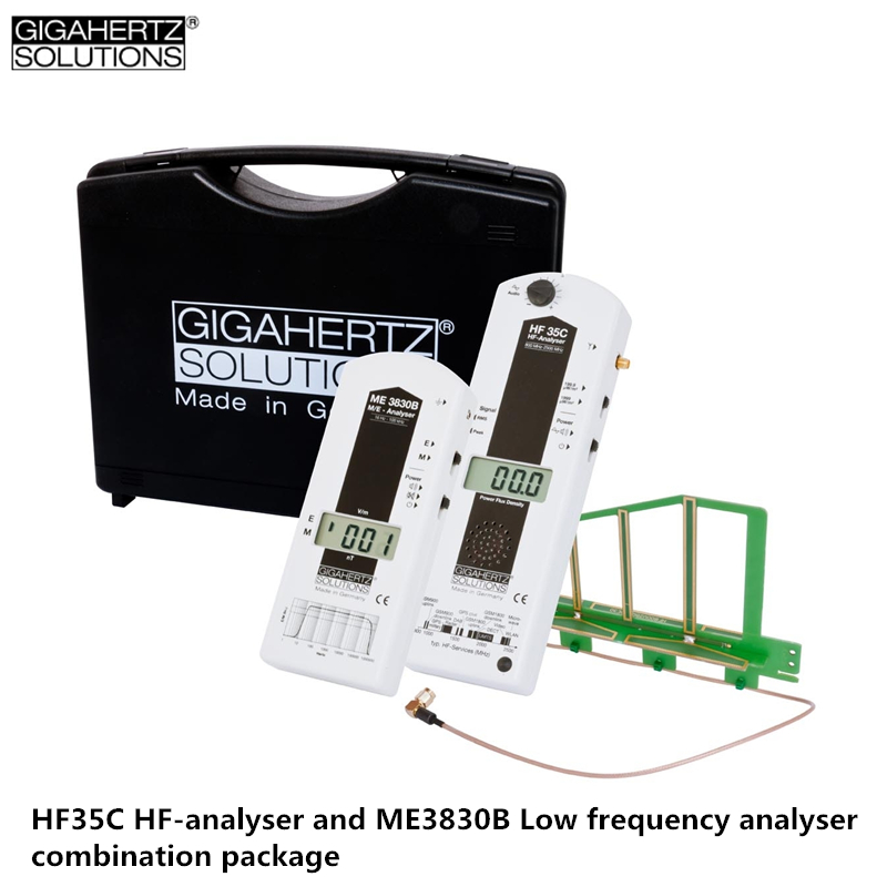 Genuine Germany GIGAHERTZ HF35C HF-analyser And ME3830B Low Frequency Electromagnetic Radiation Detector Combination Package
