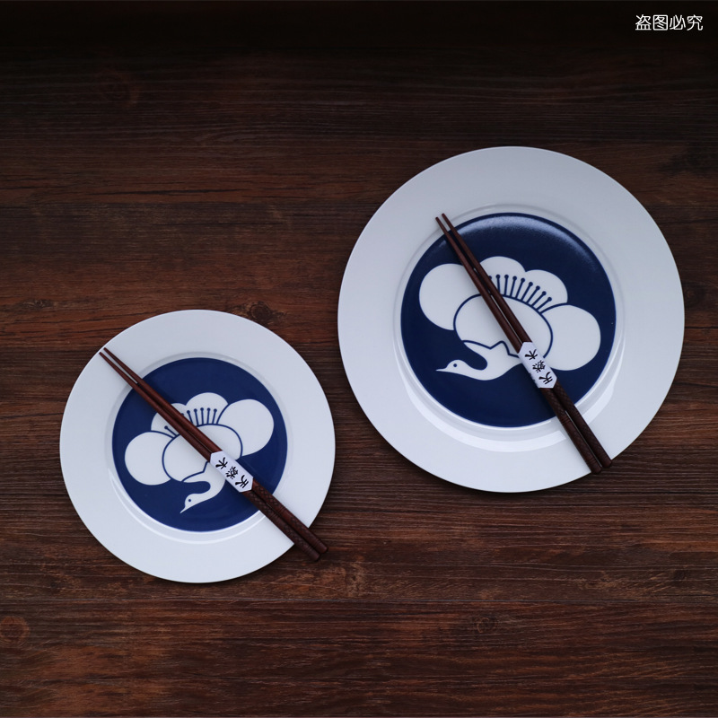8 Inch Creative Ceramic Plate Personalized Bone China Round Plate Fruit Salad Pasta Dish Plates X028