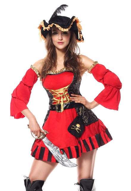 Plus Szie 2XL Halloween Pirate Costume Adult Women Red Sexy Matador Pirate Captain Cosplay Costume Pirates  sc 1 st  AliExpress.com & Plus Szie 2XL Halloween Pirate Costume Adult Women Red Sexy Matador ...