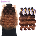 8A ombre hair extensions brazilian virgin hair body wave 4pcs/lot two tone #4/30 rosa hair ombre hair weaves  tangle free