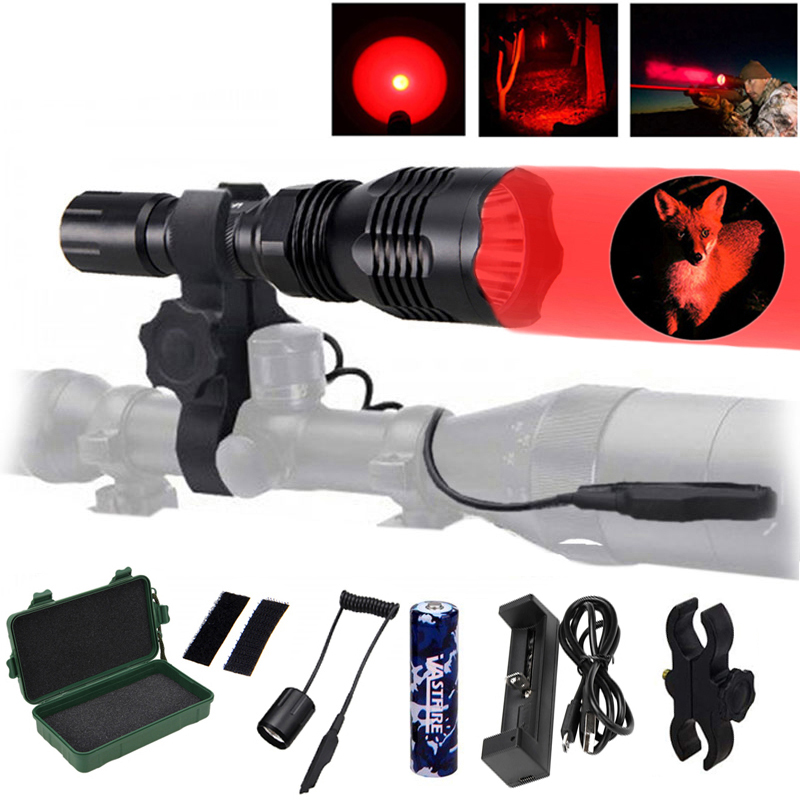 Scout Light Tactical LED Mini Hunting Flashlight Weapon Gun Light+20mm Picatinny Keymod Rail Mount+18650+USB Charger+Switch+CaseScout Light Tactical LED Mini Hunting Flashlight Weapon Gun Light+20mm Picatinny Keymod Rail Mount+18650+USB Charger+Switch+Case