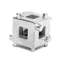 """WDHZ Автомобиль DIY задний поршень тормозного диска инструменты суппорт ветер обратно куб 3/"""" каллипер адаптер Инструменты серебро"""