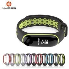 Купить с кэшбэком Sport Mi Band 3 Strap wrist strap for Xiaomi mi band 3 sport Silicone Bracelet for xiaomi Mi band 3 band3 smart watch bracelet