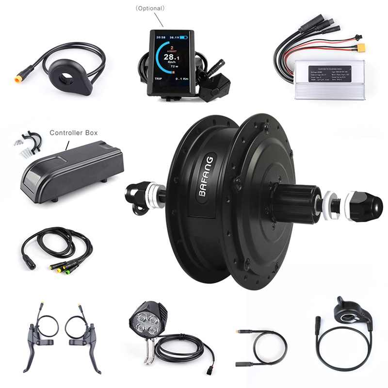 Bafang Electric Bike Rear Hub Motor Conversion Kit 36V 250W Electric Bicycle 20'' 26'' Motor With LCD Display