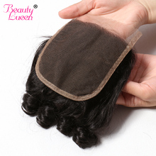 BEAUTY LUEEN Brazilian Bouncy Curly 100% Human Hair 4*4 Swiss Lace Closure Free Part Natural Color Remy Hair Free Shipping