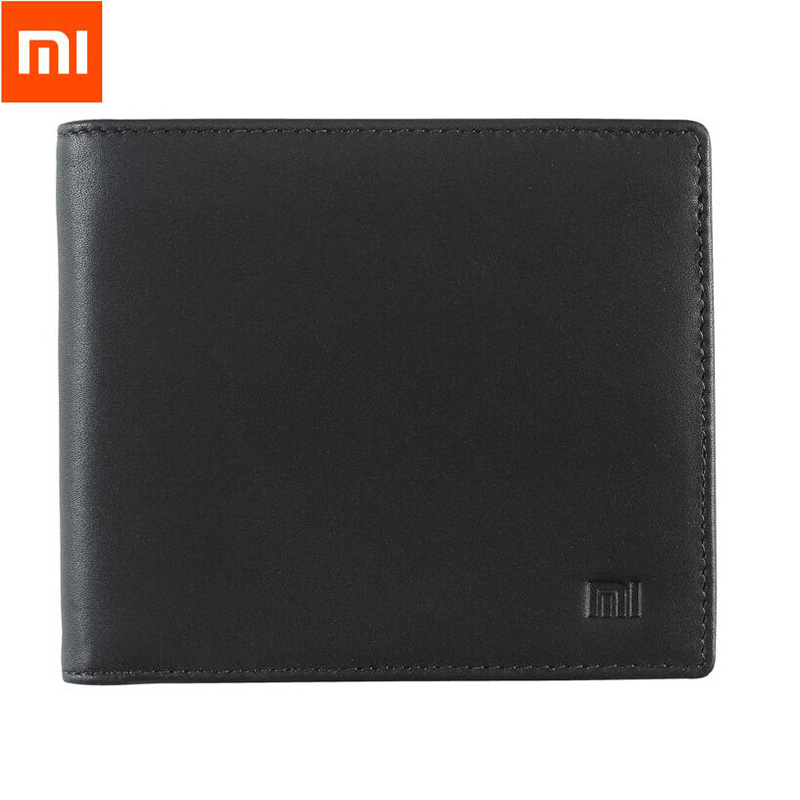 2017 Original Xiaomi Leather Wallet Full Griand Genuine Soft Purse bag Man Woman Stylish Business High