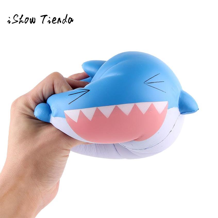 ISHOWTIENDA 15cm Shark Scented mochi squishy Slow Rising Squeeze Toys a rally prank toy practical jokes stress reliever scyushes