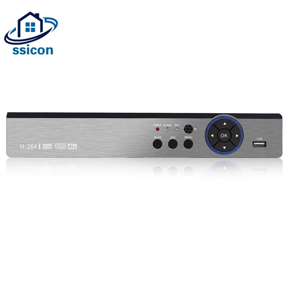 SSICON 5 DANS 1 8CH 4MP CCTV DVR Pour AHD CVI TVI Analogique IP Caméra 4MP DVR Hybride NVR 8 canal CCTV Vidéo Enregistreur Soutien 6 tb HDD