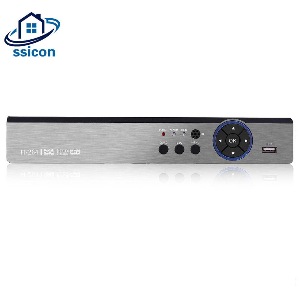 SSICON 5 IN 1 8CH 4MP CCTV DVR For AHD CVI TVI Analog IP Camera 4MP DVR Hybrid NVR 8Channel CCTV Video Recorder ninivision 5 in 1 security cctv dvr 4mp for ahd cvi tvi analog ip camera 4mp hybrid video recorder 4ch 8ch dvr motion detect
