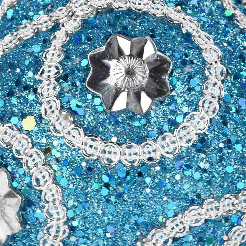 1Pc Christmas Santa Rhinestone Glitter Baubles Ball 8cm Xmas Tree Ornament Decor Gift New Years Home Decor #2o29 (9)