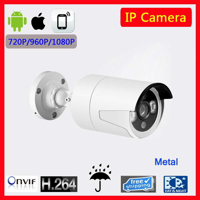 2.0MP 1080P  Mini Bullet IP Camera ONVIF Waterproof Outdoor IR CUT Night Vision P2P Plug and Play with CMS software hd mini bullet ip camera onvif waterproof outdoor ir cut night vision p2p plug and play with poe