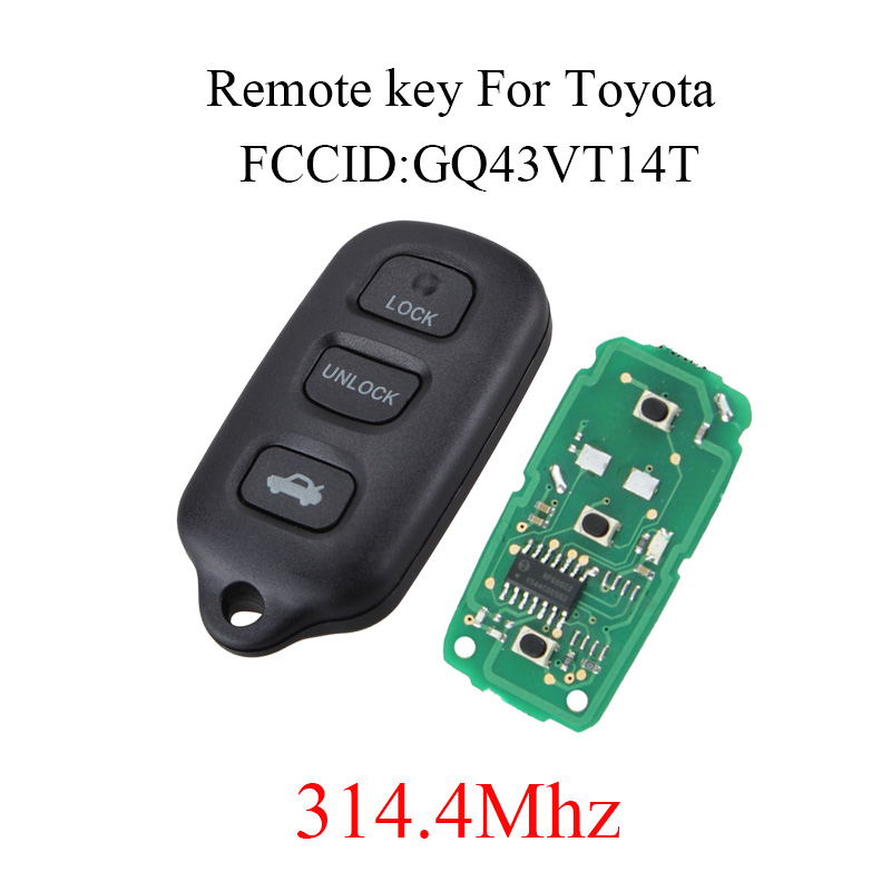 3+1Buttons Keyless Entry Car Remote Key Fob 314.4Mhz For Toyota Camry Solara Corolla Matrix Sienna 4Runner 1999-2007 GQ43VT14T3+1Buttons Keyless Entry Car Remote Key Fob 314.4Mhz For Toyota Camry Solara Corolla Matrix Sienna 4Runner 1999-2007 GQ43VT14T