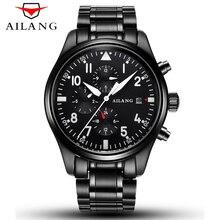 AILANG Mechanical Mens Watches Top Brand Luxury Sports Series Multi-functional Clock Man Waterproof 50M Luminous Function Watch