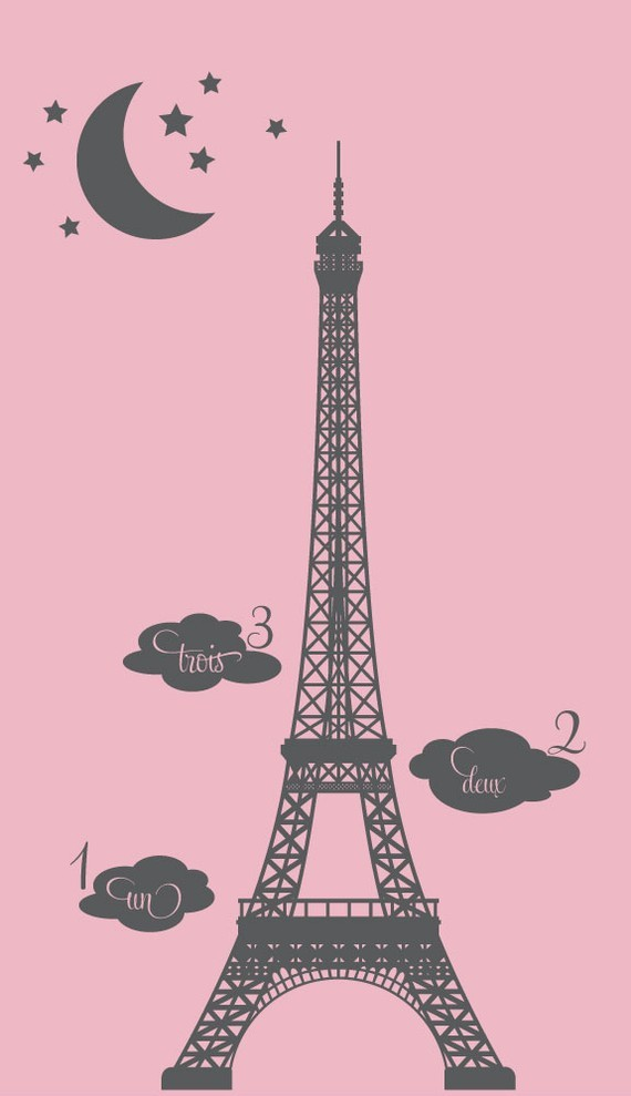 Popular cm size chart buy cheap cm size chart lots from - Sticker mural tour eiffel ...