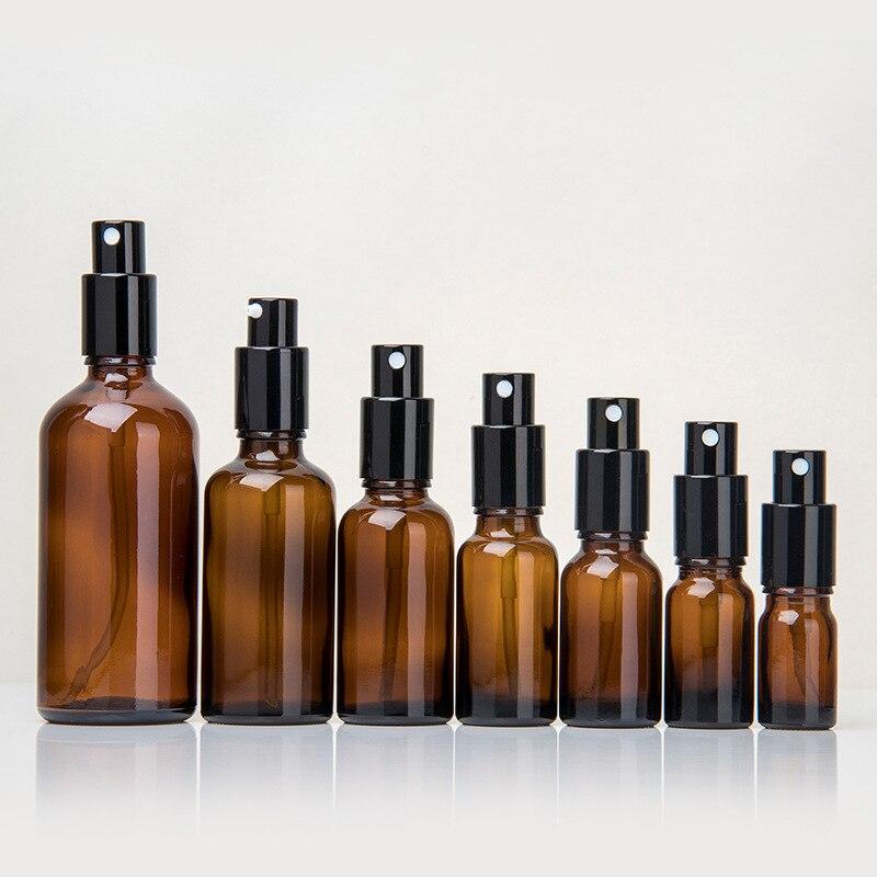 10 100 ml 1 ctn oro argento nero a spruzzo emulsione testa tan flaconi contagocce di Vetro Bottiglie di Olio Essenziale di Cosmetici Contenitore di viaggio - 5
