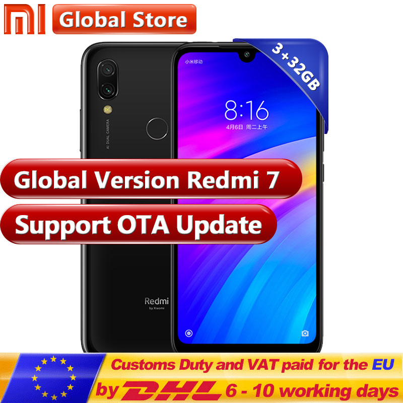 Global version Xiaomi Redmi 7 3GB 32GB RAM ROM Snapdragon 632 Moble phone Octa Core 4000mAh 6.26'' Phone 12+2MP Dual Camera(China)