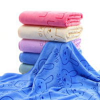 70X140 cm Microfibra Toalha de Banho para Adultos Crianças Grosso Coelho Dos Desenhos Animados de Banho Toalha de Praia Dos Homens Do Esporte de Viagem Ao Ar Livre toalhas de Douche